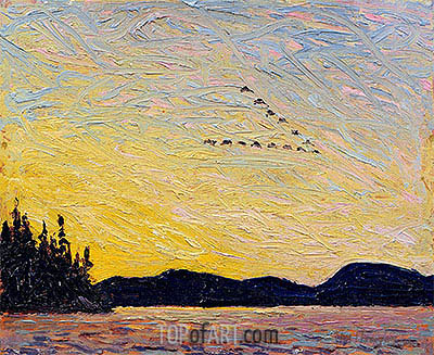 Round Lake, Mud Bay, 1915 | Tom Thomson | Gemälde Reproduktion