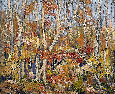 Autumn Tapestry: Tangled Trees, 1914 | Tom Thomson | Painting Reproduction