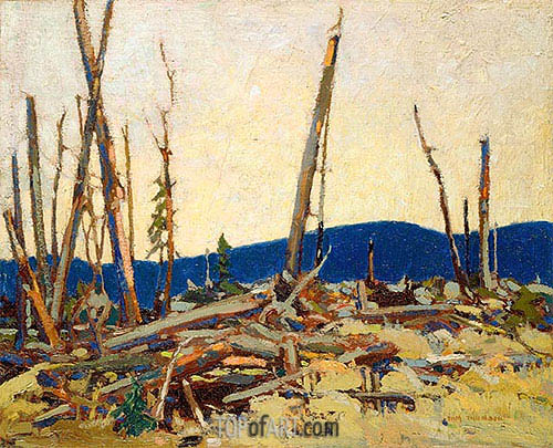Burnt Land, 1915 | Tom Thomson | Gemälde Reproduktion