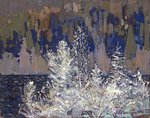 Tom Thomson | Frost-laden Cedars, Big Cauchon Lake, c.1915/16