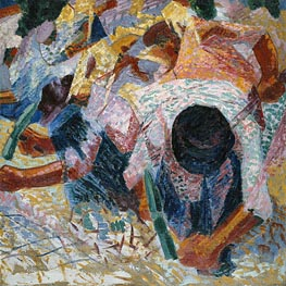 The Street Pavers, 1914 by Umberto Boccioni | Painting Reproduction