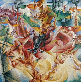 Elasticity | Umberto Boccioni | Painting Reproduction