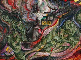 States of Mind I: The Farewells, 1911 by Umberto Boccioni | Painting Reproduction