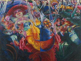 The Laugh, 1911 by Umberto Boccioni | Painting Reproduction