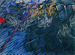 States of Mind II: Those Who Go, 1911 by Umberto Boccioni | Painting Reproduction