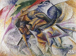 Dynamism of a Cyclist, 1913 by Umberto Boccioni | Painting Reproduction
