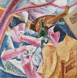 Under the Pergola at Naples, 1914 by Umberto Boccioni | Painting Reproduction