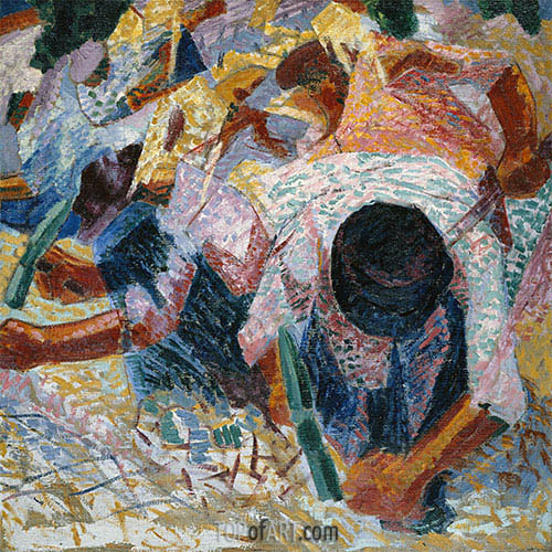 The Street Pavers, 1914 | Umberto Boccioni| Painting Reproduction