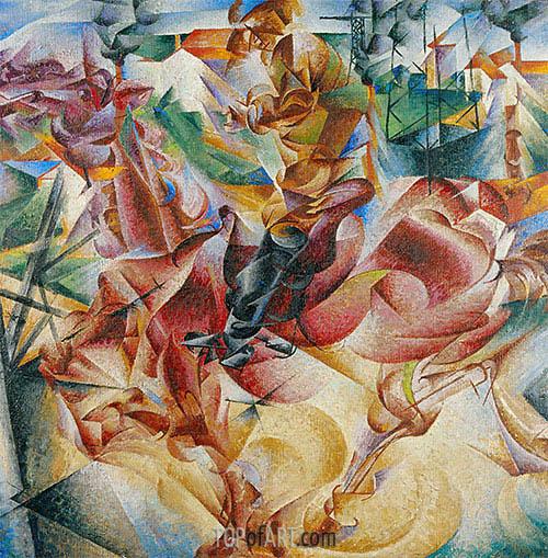 Umberto Boccioni | Elasticity, 1912