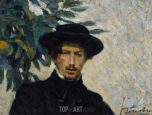Self-Portrait, 1905 | Umberto Boccioni | Painting Reproduction