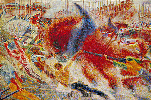 The City Rises, 1910 | Umberto Boccioni | Painting Reproduction