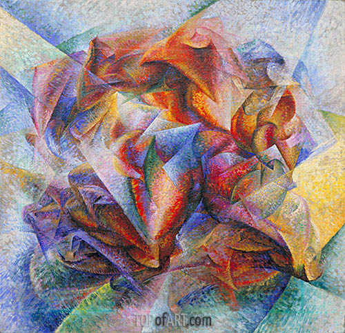 Dynamism of a Soccer Player, 1913 | Umberto Boccioni | Painting Reproduction