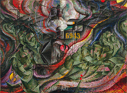 States of Mind I: The Farewells, 1911 | Umberto Boccioni | Painting Reproduction