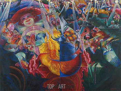 The Laugh, 1911 | Umberto Boccioni | Painting Reproduction