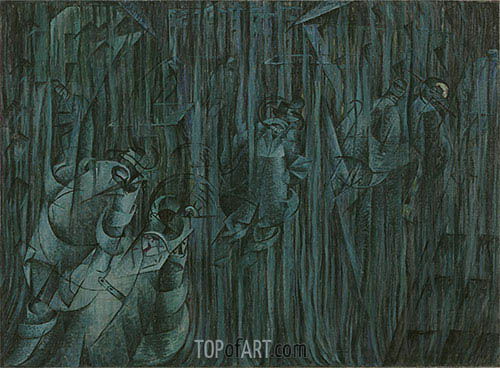 States of Mind III: Those Who Stay, 1911 | Umberto Boccioni| Painting Reproduction
