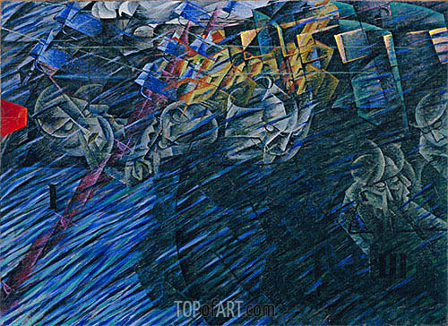 States of Mind II: Those Who Go, 1911 | Umberto Boccioni | Painting Reproduction