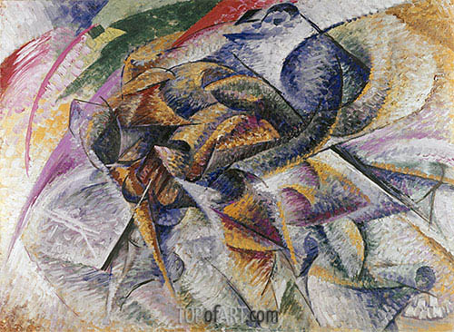Dynamism of a Cyclist, 1913 | Umberto Boccioni | Painting Reproduction