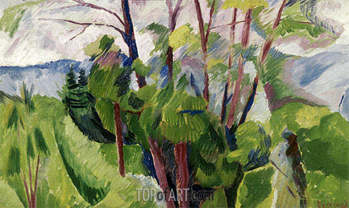 Landscape, 1916 | Umberto Boccioni| Painting Reproduction