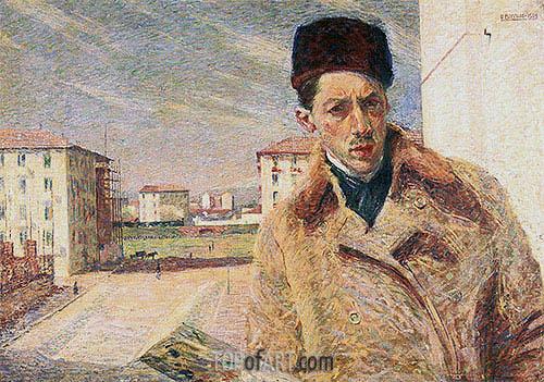 Self-Portrait, 1908 | Umberto Boccioni | Painting Reproduction