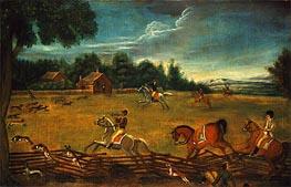 Das Ende der Jagd, c.1800 von Unknown Master | Gemälde-Reproduktion