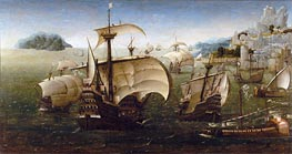 Portugiesisch Karacken aus einer felsigen Küste, c.1540 von Unknown Master | Gemälde-Reproduktion