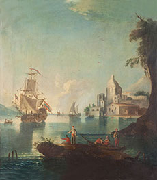 Seascape with Fishermen | Unknown Master | Painting Reproduction