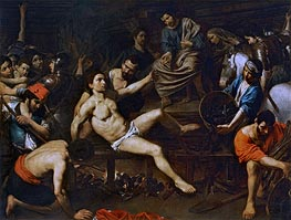 The Martyrdom of Saint Laurence, c.1621/22 by Valentin de Boulogne | Painting Reproduction