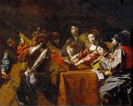 Concert with Eight People | Valentin de Boulogne | Painting Reproduction
