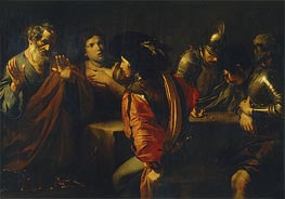 The Denial of St. Peter | Valentin de Boulogne | Painting Reproduction