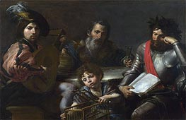 The Four Ages of Man | Valentin de Boulogne | Painting Reproduction