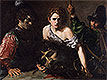 David with the Head of Goliath and Two Soldiers | Valentin de Boulogne