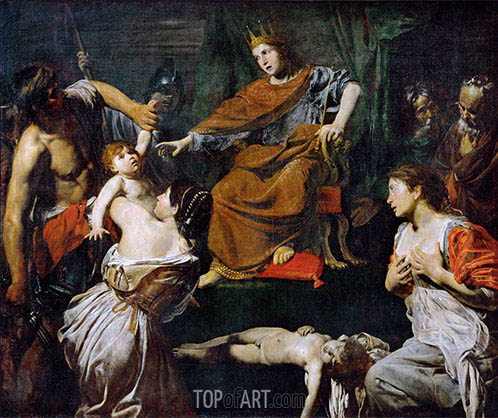 Judgment of Solomon, c.1625 | Valentin de Boulogne | Painting Reproduction