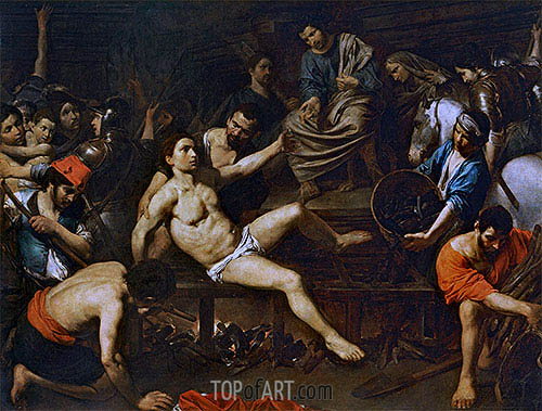 Valentin de Boulogne | The Martyrdom of Saint Laurence, c.1621/22