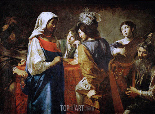 The Fortune Teller, c.1628 | Valentin de Boulogne | Painting Reproduction