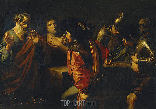 Valentin de Boulogne | The Denial of St. Peter, 1620