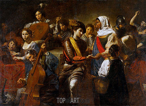 Valentin de Boulogne | Fortune Teller with Concert Party, 1631