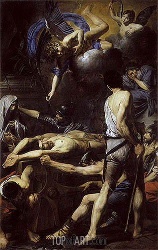 Valentin de Boulogne | Martyrdom of St. Processus and St. Martinian, c.1629/30