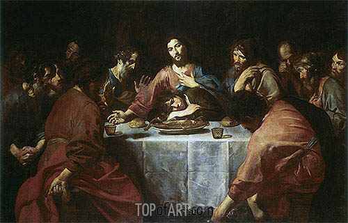 Valentin de Boulogne | Last Supper, 1625