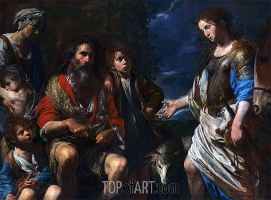 Valentin de Boulogne | Erminia and the Shepherds, c.1630