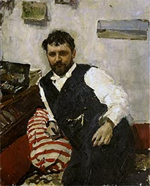 Portrait of the Artist Konstantin Korovin, 1891 by Valentin Serov | Painting Reproduction