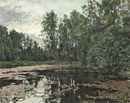 The Overgrown Pond, Domotcanovo, 1888 by Valentin Serov | Painting Reproduction