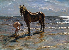 Bathing of a Horse, 1905 by Valentin Serov | Painting Reproduction