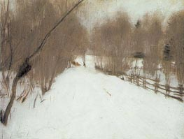 Road in Domotcanovo, Winter, 1904 von Valentin Serov | Gemälde-Reproduktion