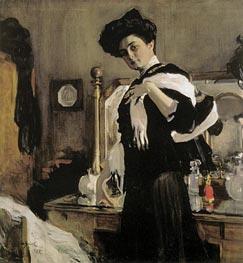 Portrait of Henrietta Girshman, 1907 by Valentin Serov | Painting Reproduction