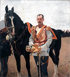 Portrait of Grand Duke Pavel Alexandrovich, 1897 von Valentin Serov | Gemälde-Reproduktion