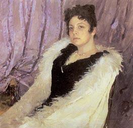 Portrait of Zinaida Moritz, 1892 by Valentin Serov | Painting Reproduction