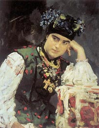 Portrait of Sofia Dragomirova, 1889 by Valentin Serov | Painting Reproduction