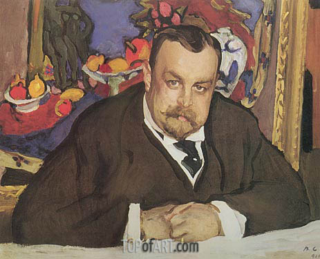 Portrait of Ivan Morozov, 1910 | Valentin Serov | Painting Reproduction