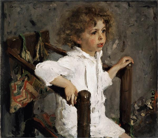 Portrait of Mika Morozov, 1901 | Valentin Serov | Painting Reproduction