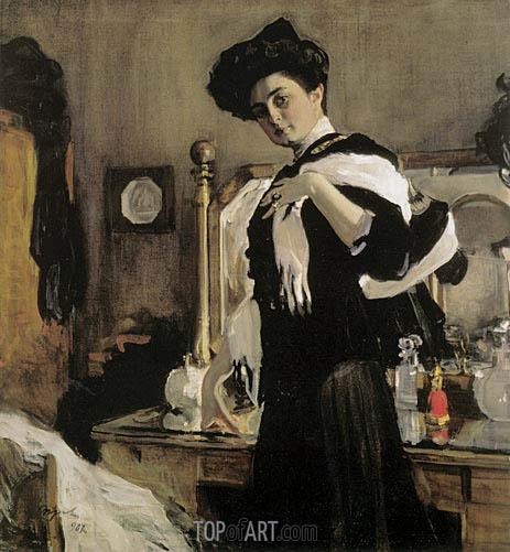 Valentin Serov | Portrait of Henrietta Girshman, 1907